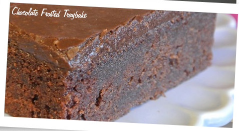 Chocolate Frosted Tray Bake - Baking with the Pink Whisk