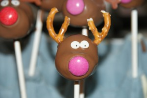 Reindeer Cake Pops or Marzipan Balls