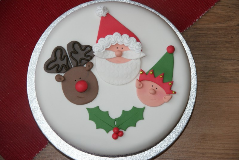 Cake Decorating Father Christmas : Santa, Rudolph and Cheeky Elf Cake Baking, Recipes and ...