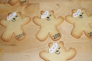 Pudsey Bear Sugar Cookies